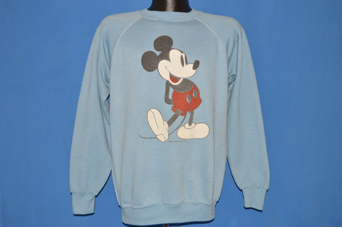 80s Mickey Mouse Walt Disney Raglan Sweatshirt Large