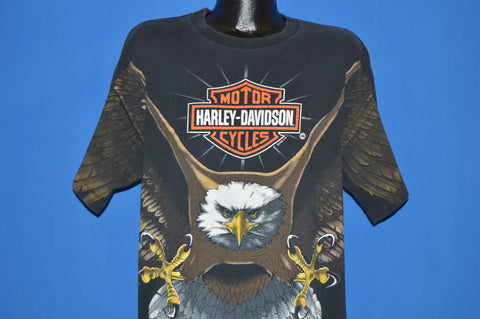 90s Harley Davidson Eagle Wing Sleeves t-shirt Extra Large