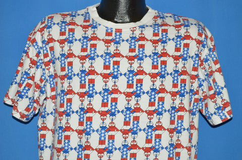 90s Ski Bum Patriotic All Over Print t-shirt Large