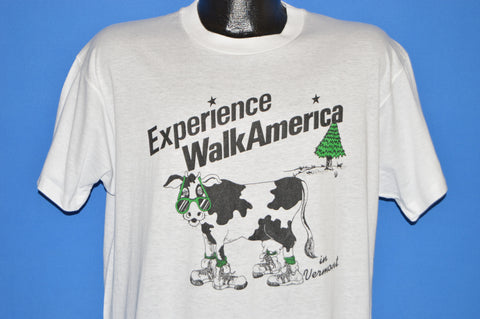 80s Experience Walk America Vermont Cow t-shirt Large