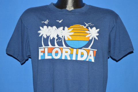 80s Florida Palm Tree Sunset Toucan t-shirt Medium