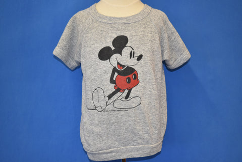 80s Mickey Mouse Disney Short Sleeve Sweatshirt Youth Large