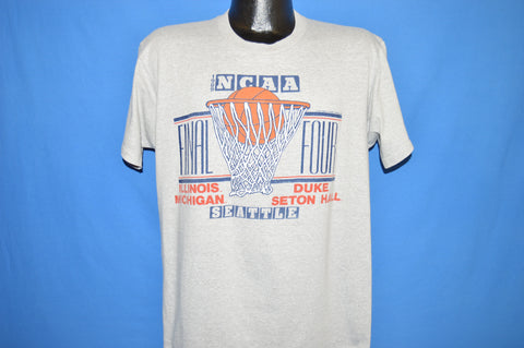 80s NCAA Final Four 1989 Michigan Seton Hall t-shirt Large