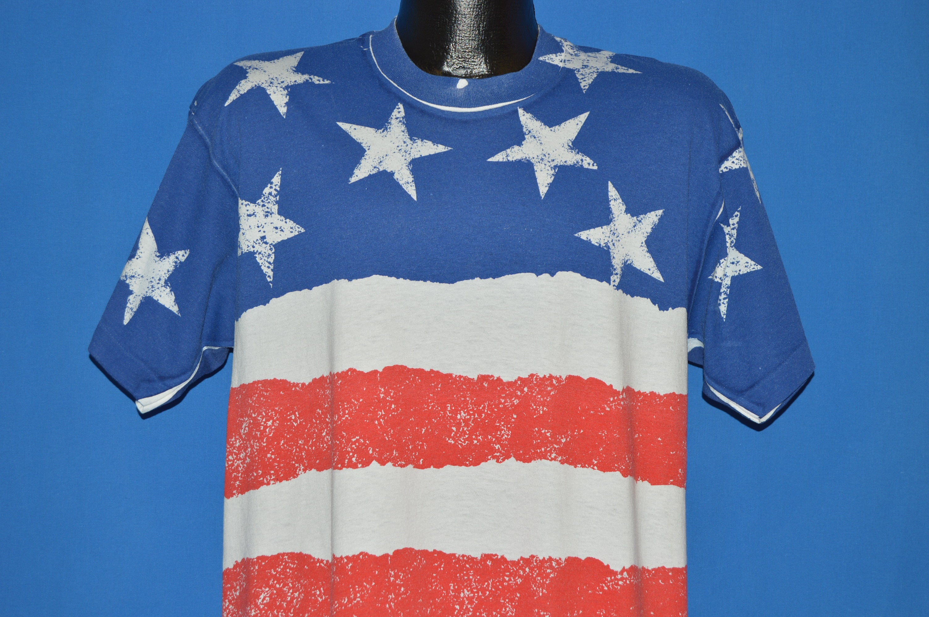 90s American Flag All Over Print tshirt Extra Large The