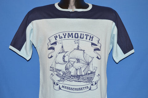 70s Plymouth Rock Massachusetts Pilgrim Ship t-shirt Small