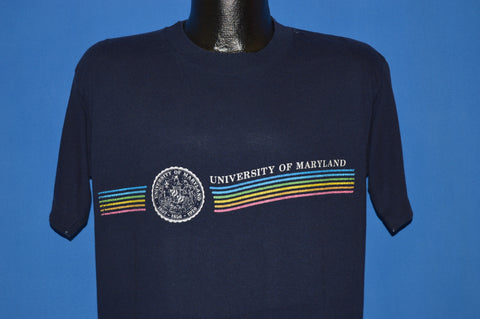 80s University of Maryland Rainbow t-shirt Large