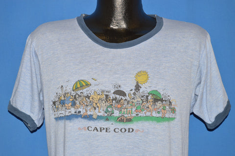 80s Cape Cod Beach Party Ringer t-shirt Medium