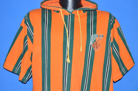90s Florida A&M Rattlers Striped Hooded t-shirt Large