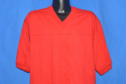 80s Red V-Neck Jersey t-shirt Large