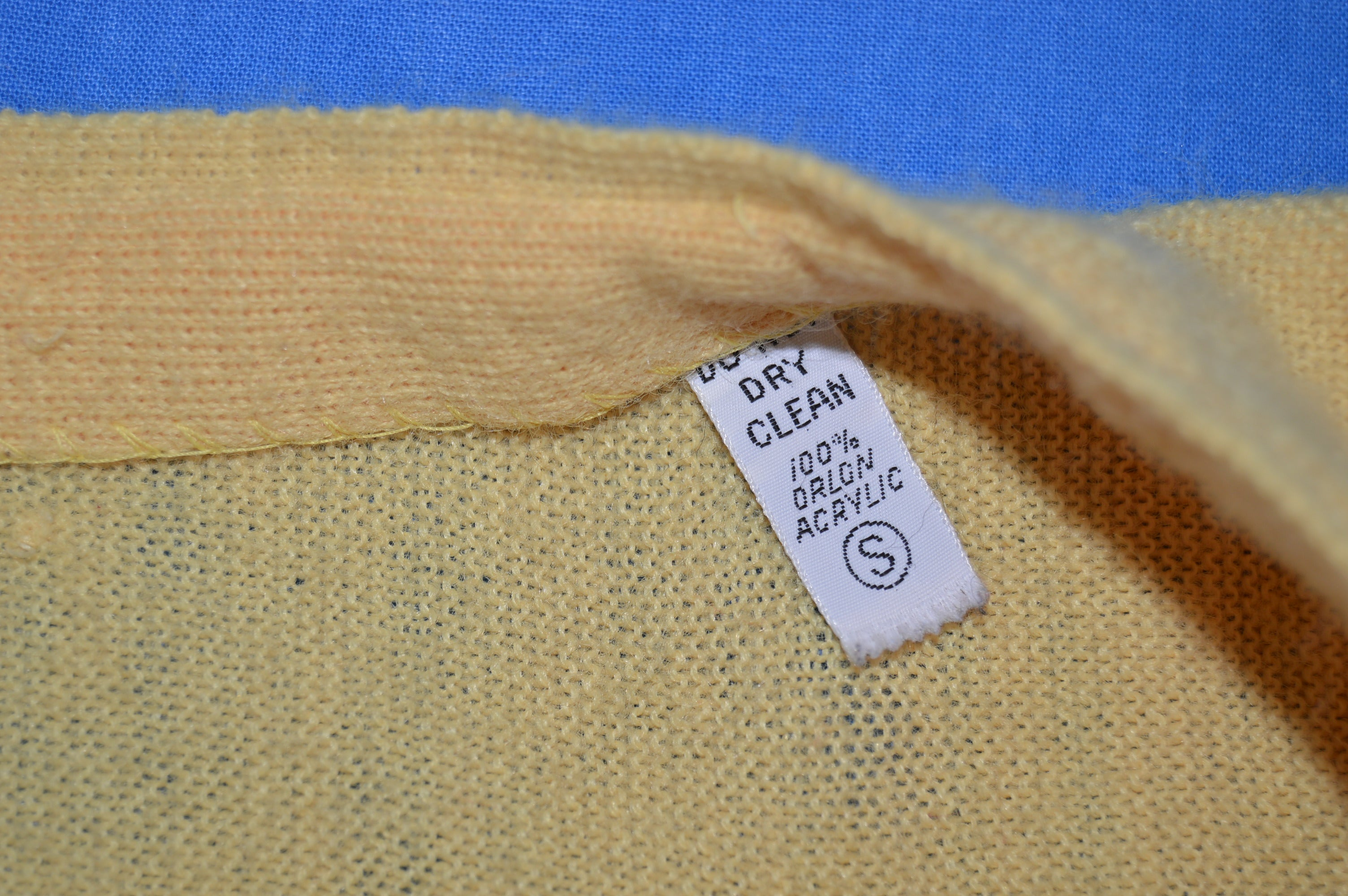055215350b7a 70s Yellow Izod Lacoste Cardigan Sweater Small - The Captains Vintage