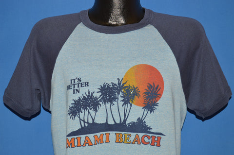 80s It's Better In Miami Beach Raglan Tourist t-shirt Medium