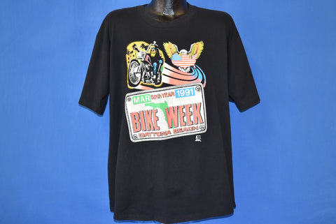 90s Daytona Beach Bike Week 1991 t-shirt Extra Large