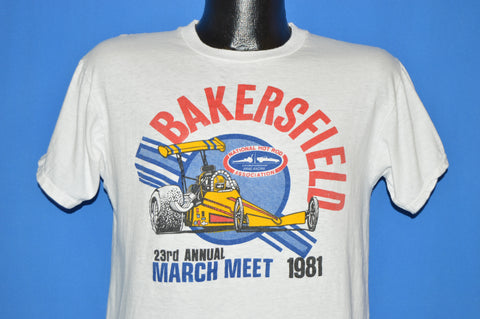 80s Bakersfield NHRA March Meet 1981 t-shirt Medium