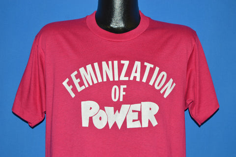 80s Feminization Of Power Feminist t-shirt Large