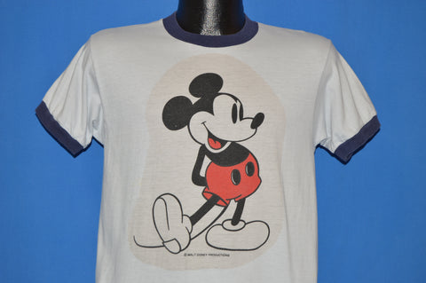 70s Mickey Mouse Walt Disney World Ringer t-shirt Medium