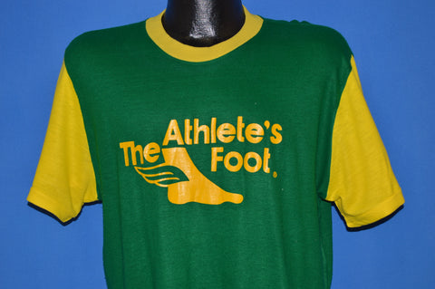 70s The Athlete's Foot Green And Yellow Jersey t-shirt Large