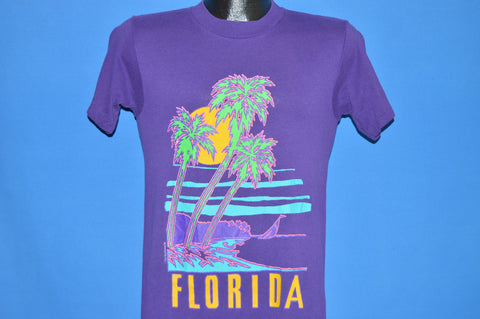 80s Florida Neon Beach Sunset t-shirt Small