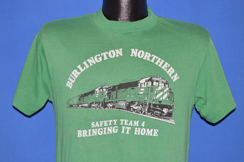 80s Burlington Northern Railroad Safety Team 4 t-shirt Medium