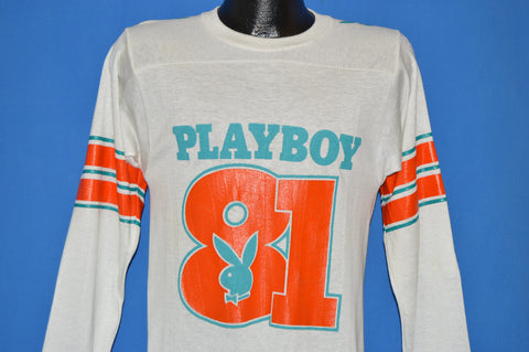 80s Playboy Bunny Football Jersey 1981 t-shirt Small