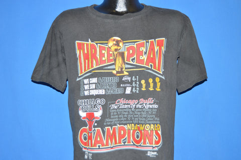 90s Chicago Bulls ThreePeat 91, 92, 93 Champs t-shirt Medium