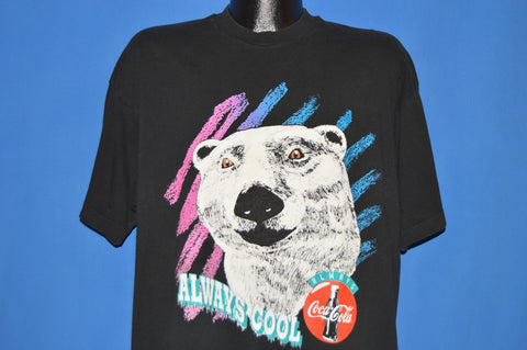 90s Coca Cola Polar Bear Always Cool t-shirt Extra Large