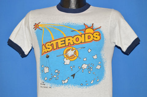 80s  Atari Asteroids Game Ringer t-shirt Small