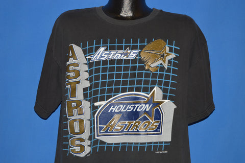 90s Huston Astros Geometric Logo t-shirt Large