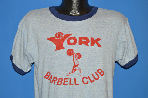 70s York Barbell Club Ringer t-shirt Large