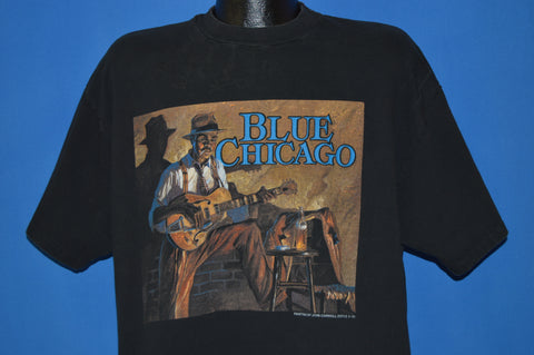 90s Blue Chicago Blues Club Venue t-shirt Extra Large