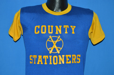 60s County Stationers #8 Baseball Jersey t-shirt Small