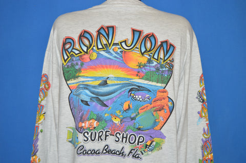 90s Ron Jon Surf Shop Cocoa Beach Long Sleeve t-shirt Extra Large