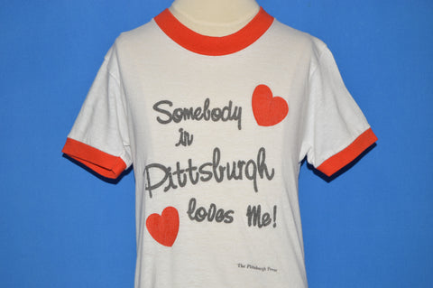80s Somebody In Pittsburgh Loves Me t-shirt Youth Medium