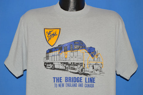 80s Delaware Hudson Railroad Bridge Line t-shirt Large