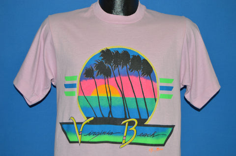80s Virginia Beach Neon Sunset t-shirt Medium