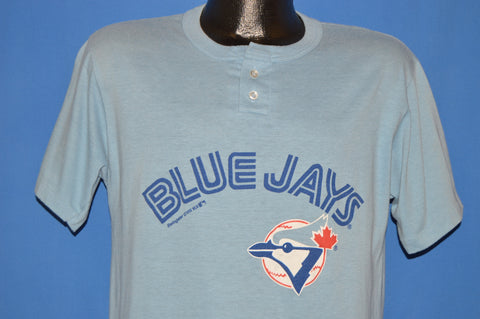 80s Toronto Blue Jays #14 Button Top t-shirt Medium