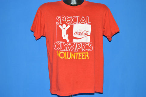 80s Coca Cola Special Olympics Volunteer t-shirt Large