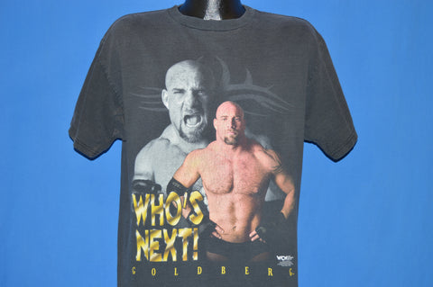90s WCW Bill Goldberg Who's Next? Wrestling t-shirt Large