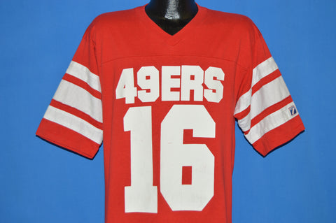 80s San Francisco 49ers Joe Montata Jersey t-shirt Large