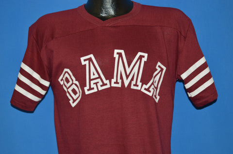 "80s Alabama ""Bama"" V-Neck Jersey Style t-shirt Medium"