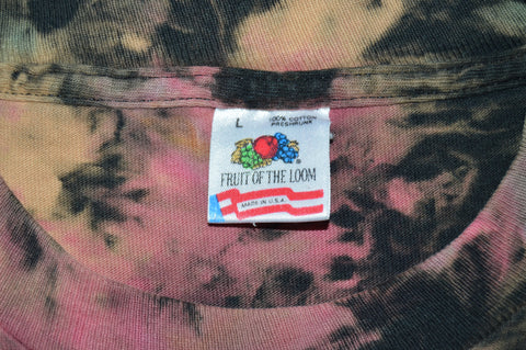 80s Stevie Ray Vaughn and Double Trouble Tie Dye t-shirt Large