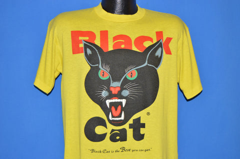 80s Black Cat Firecracker Logo t-shirt Large