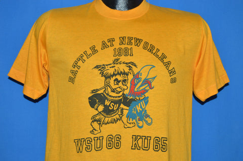 80s Wichita VS. Kansas Battle At New Orleans '81 Basketball t-shirt Medium