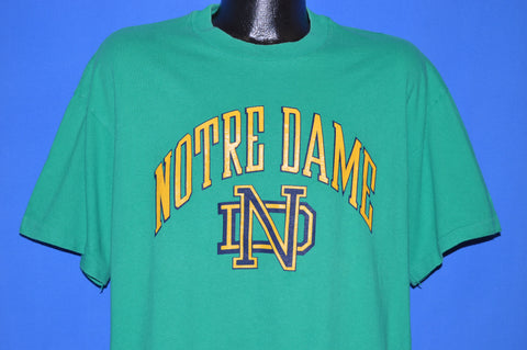 90s Notre Dame Logo Fighting Irish t-shirt Extra Large