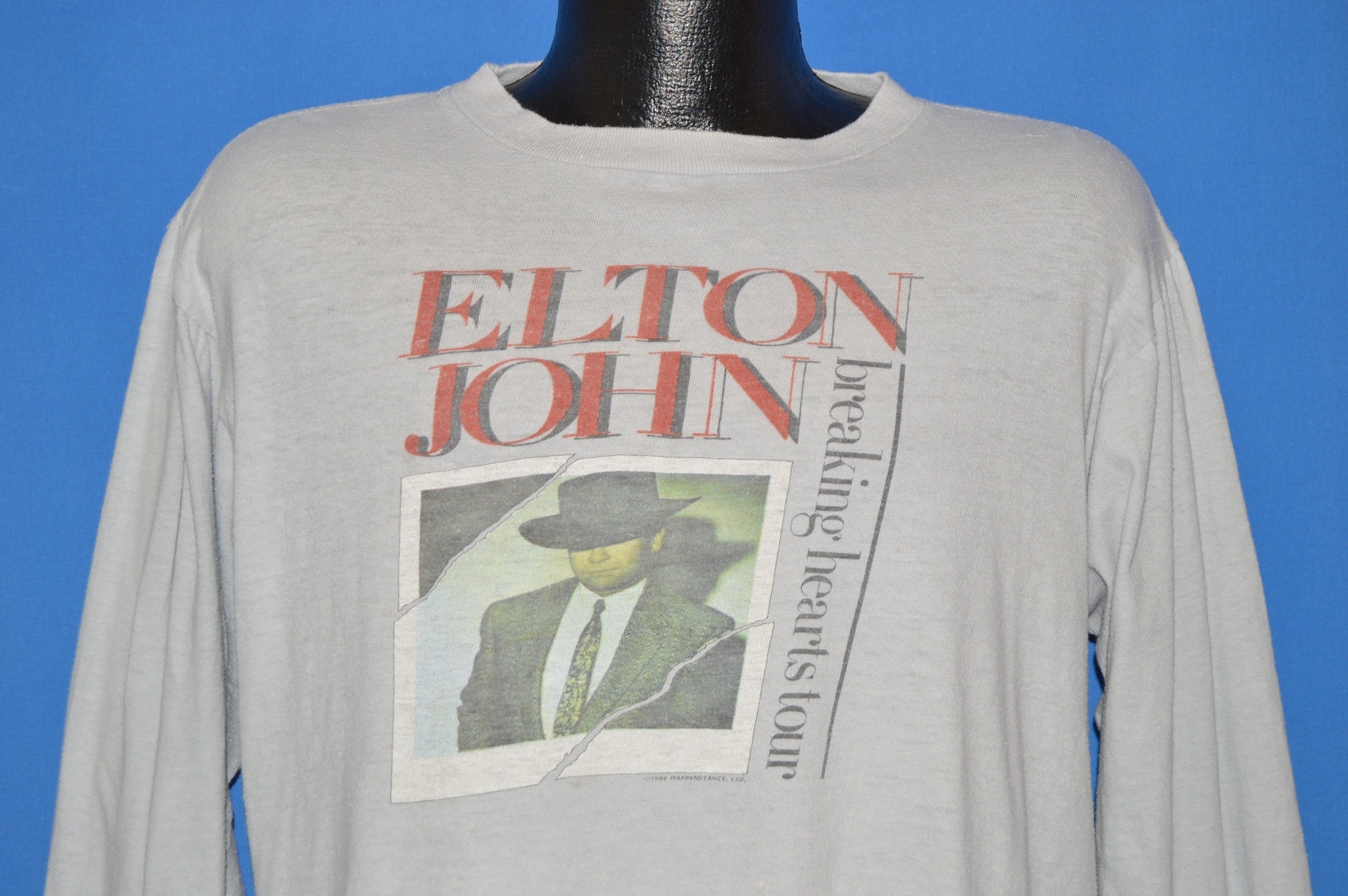 e1aff152d46 80s Elton John Breaking Hearts Tour t-shirt Large - The Captains Vintage