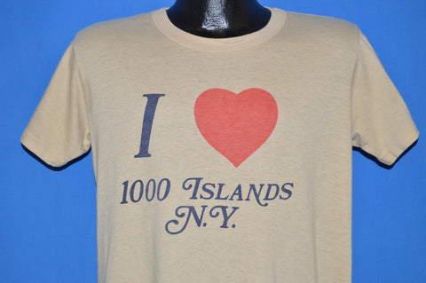 80s I Love Thousand Islands New York t-shirt Large