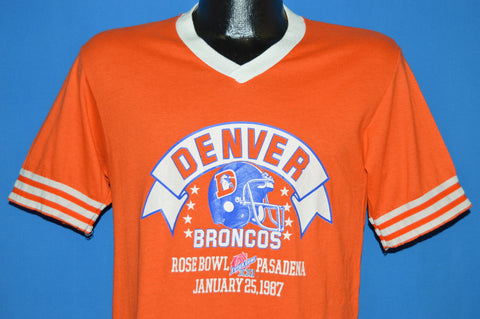 80s Denver Broncos Super Bowl XXI 1987 V-Neck t-shirt Medium