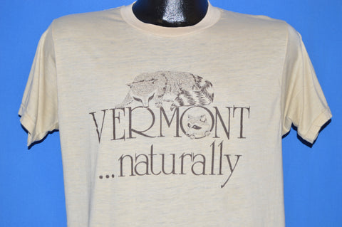 70s Vermont Naturally Raccoon Logo t-shirt Large