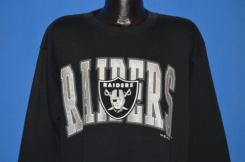 90s Oakland Raiders Logo Sweatshirt Large