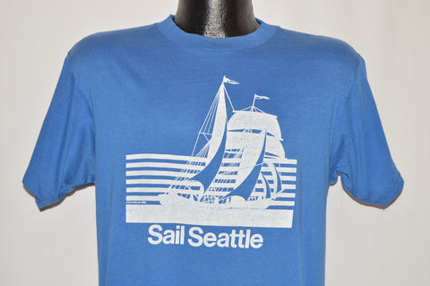 80s Sail Seattle Schooner Sailboat t-shirt Medium