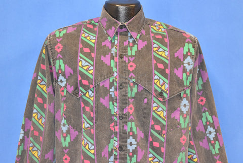 90s Wrangler Tribal  Print Western Shirt Medium